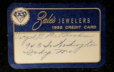 Zale's paper credit card exp 1958♡Free Shipping♡cc948