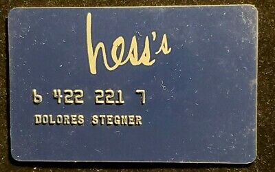 Hess's Charge Card♡Free Shipping♡cc933♡