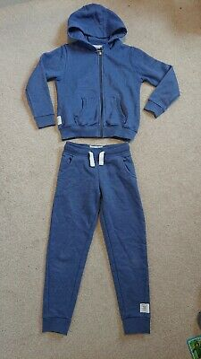 Next girls Blue Tracksuit Joggers Hoody Jogging Bottoms Age 7 7-8 years
