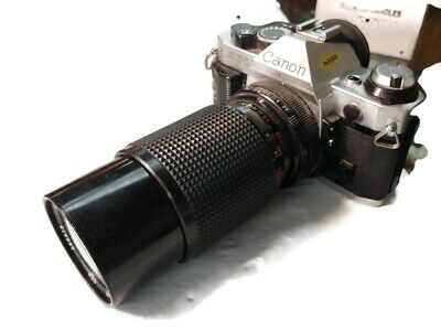 CANON AE-1 Program CAMERA WITH 80-200MM 1:4 ZOOM LENS -Untested