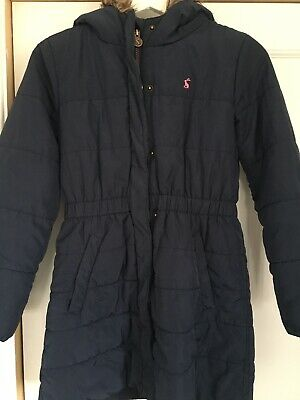 Joules Girls Navy Coat Age 11-12 Years