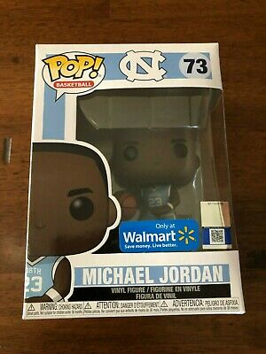 Funko Pop Basketball Michael Jordan #73 UNC North Carolina Walmart Exclusive New