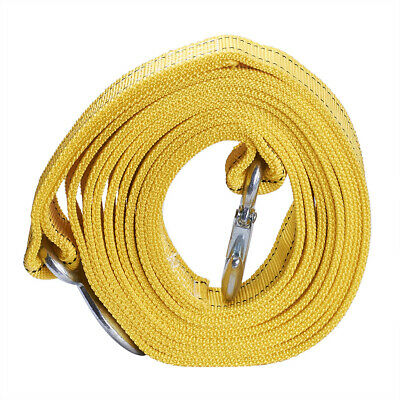 6Tons Car Towing Strap with Hooks Car Trailers Cable Bars Towing Strap Rope