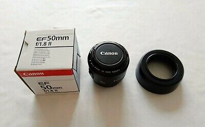 Canon EF 50mm F1.8 II Autofocus Prime Lens Boxed with Front & Rear Lens Caps