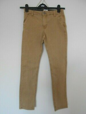 NEXT boys jeans aged 11 146 cm beige chino adjustable waist cotton blend