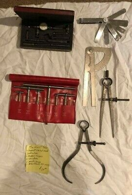 Machinist Tools Lot - Starrett Indication, gauges, dividers, more!