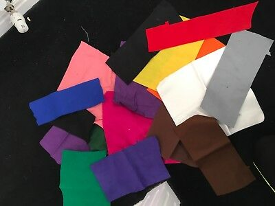 Selection Of Small Different Colours Felt Pieces For Arts And Crafts Christmas