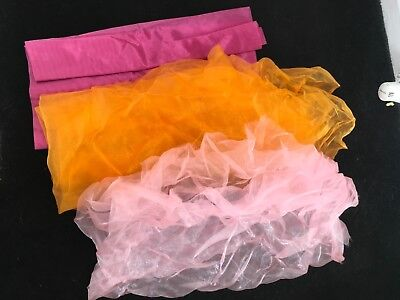 Selection Of Large Different Colours Organza Voil Arts And Crafts Christmas