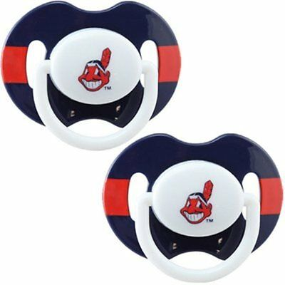 Cleveland Indians Orthodontic 2-pack Pacifier Set NWT