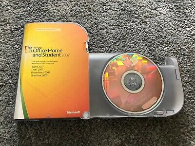 Microsoft Office 2007 Home And Student (Used) 3-User Dvd 79G-00007 Genuine Uk