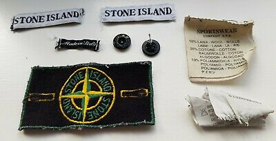 VINTAGE PRE 2000 STONE ISLAND GREEN EDGED COMPASS PATCH BADGE Massimo Osti