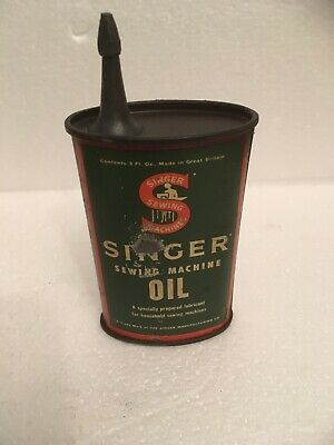 Vintage singer sewing machine oil can Original