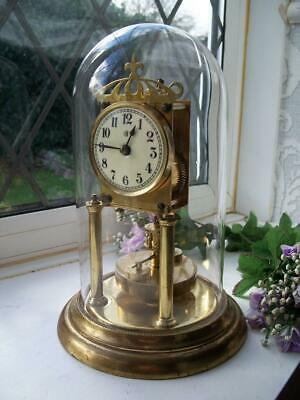 HANDSOME ANTIQUE BADISCHE UHRENFABRIK ANNIVERSARY / 400 DAY MANTLE CLOCK c1900