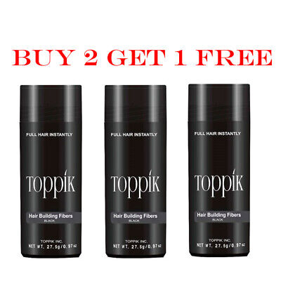Toppik Hair Building Fibers - 27.5g / 0.97 oz (Buy 2 Get 1 Free) - Ship Fast