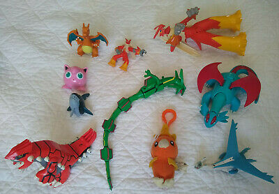 Lot of 10 Pokemon Figures mostly from 2003 - 2005, Rayquaz, Salamence, Blaziken