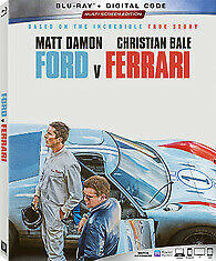 Ford V Ferrari (Blu-Ray+Digital) W/Slipcover - New - Factory Sealed