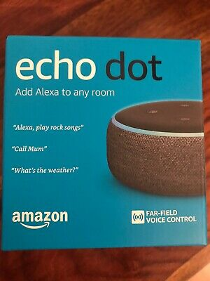 Echo Dot 3rd Generation Smart Speaker With Alexa Charcoal Fabric Sealed Unopened
