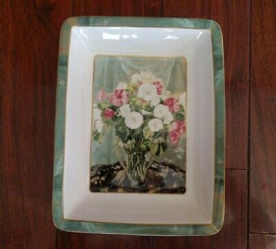 Rare Sir Winston Churchill Mallows Painting Serving Bowl Border Fine Art Studios