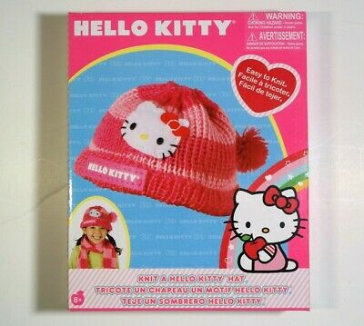 Hello Kitty Knit Your Own Pink Hat Kit Knitting Arts & Crafts Hobby