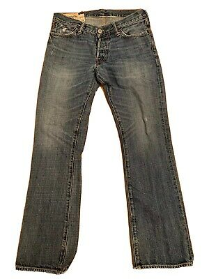 """Abercrombie & Fitch A&F Baxter Low Rise Slim Boot Jeans 30 X 30 15.5"""" Button Fly"""