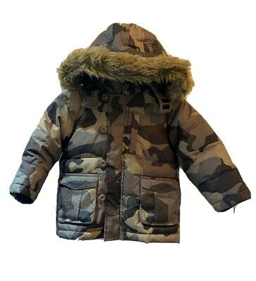 Baby Gap Kids Down Feather filled camouflage coat jacket winter size age 2 years