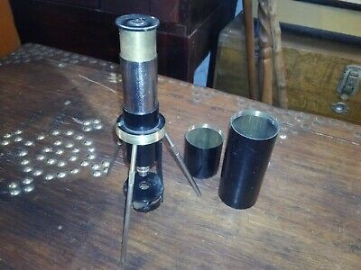 Antique Pocket/Field Microscope Spindler & Hoyer Junior Germany 1920's