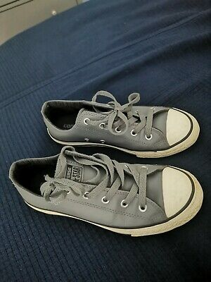 Converse Grey Leather Size 2