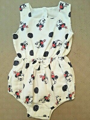 Baby Girls Minnie Mouse Playsuit From Disney  Age 9-12 Months  Ex Cond