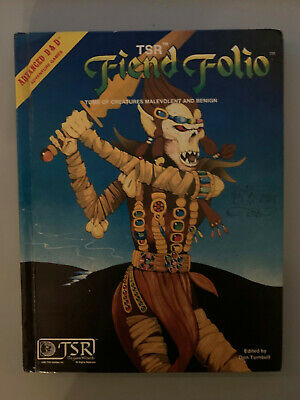TSR Advanced Dungeons and Dragons AD&D Fiend Folio 1981