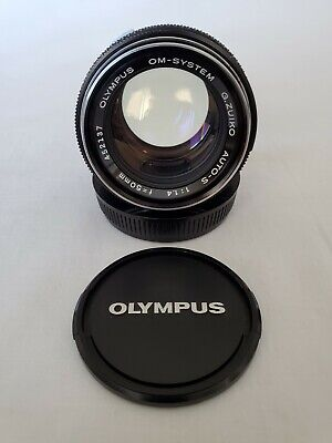 Olympus OM System Auto-S 50mm f/1.4 G. Zuiko Fast Lens With Caps, Nice!