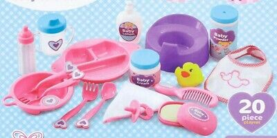 50pc Set Baby Doll Feeding Decor Accessories Kit Nappy Milk Bottle Cutlery Potty
