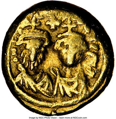 Byzantine Gold Heraclius and Son AV Solidus AD 613-41, Carthage Mint, NGC VF