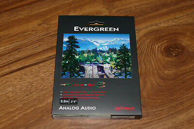 AudioQuest Evergreen 3.5 mm Male to RCA Male - 1.97 ft (0.6 m)