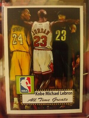 Kobe Bryant,Michael Jordan,Lebron James All Time Greats Rare Card.