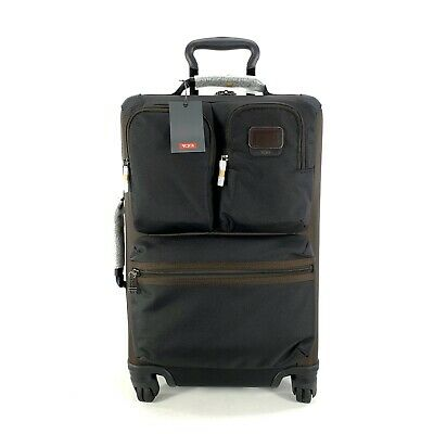 Tumi Briley International Expandable Carryon Suitcase Spinner Hickory Black