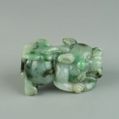 Chinese Exquisite Hand-carved brave troops Carving jadeite jade Pendant