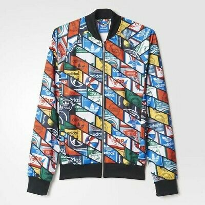 Adidas Originals Labels AOP All Over Print SST Track Jacket MEN'S LARGE NWT NEW