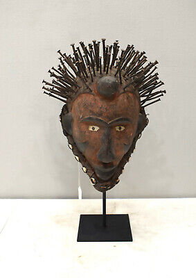 African Mask Bakongo Tribe Ritual Wood Mask