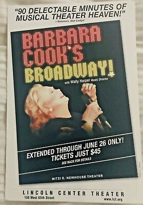 Barabara Cook's  Broadway LCT mailer flyer June 2004