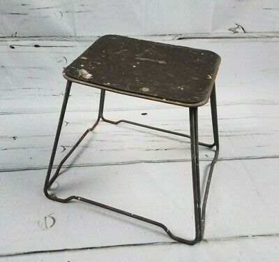 Vintage Industrial STEP Stool Metal Hair Pin Wire Frame MCM Decor Factory Shop
