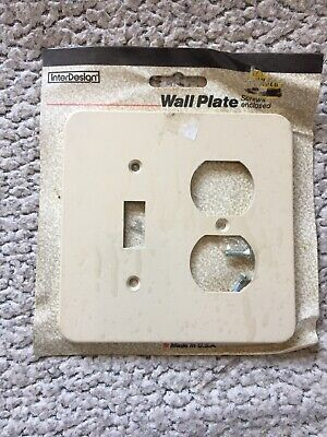Wall Plate / Combo Switch & Outlet InterDesign Thick Plastic Bone