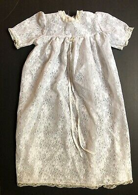 Vintage White Lace Baptism/ Christening Gown~ Madonna By Haddad
