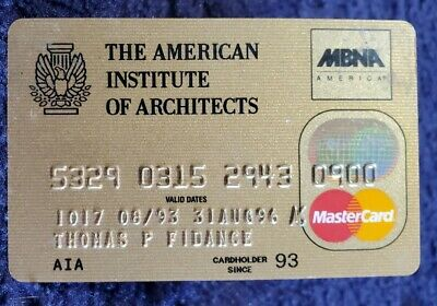 The American Institue Architects MasterCard credit card E 1999♡free ship♡cc1173♡