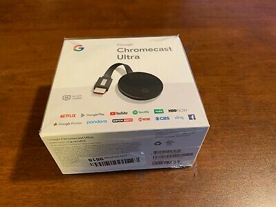 Google Chromecast Ultra same day fast free shipping open box new free ship