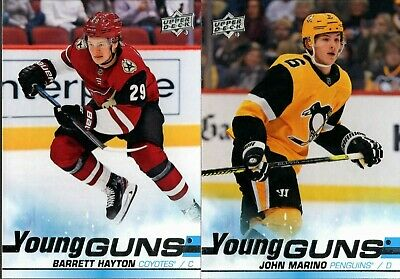 2019-20 Upper Deck Series 2 Young Guns Rookie Rc Singles #451-500 - You Pick