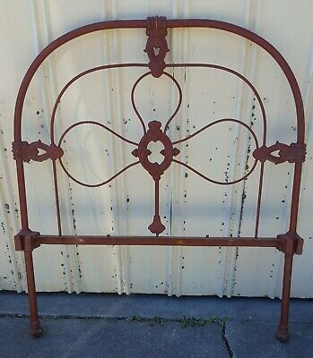 Antique Wrought Iron Single Bed Head