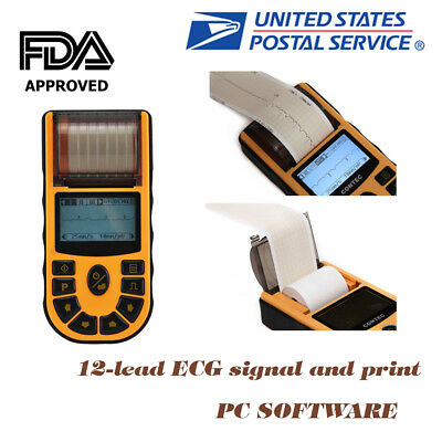 CE FDA Approved Contec ECG80A Hand-held Single Channel Digital ECG EKG Machine