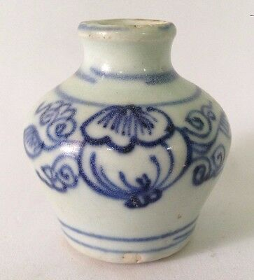 Chinese Ming Dynasty Hongzhi Circa 15th Century Period Blue White Jarlet