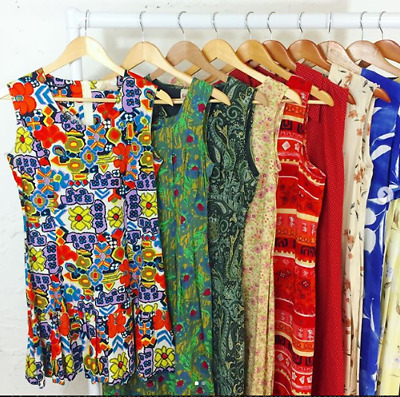 Wholesale Job Lot 10 x Vintage Dress Bundle Mixed Brands & Sizes