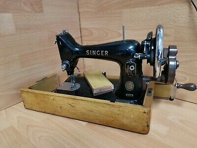 Antique Old Vintage hand crank Singer sewing machine Model  99K